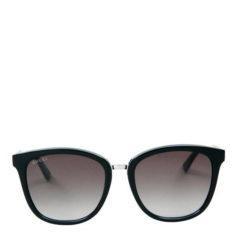 Gucci Women's Black/Silver Sunglasses 55mm