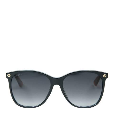 Gucci Women's Black/Brown Sunglasses 58mm