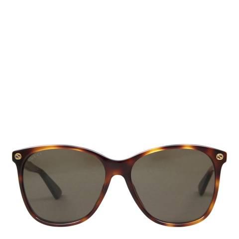 Gucci Women's Havana/Brown Gucci Sunglasses 58mm