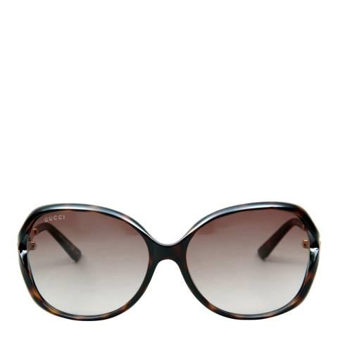 Gucci Womens Havana/Brown Sunglasses 60mm
