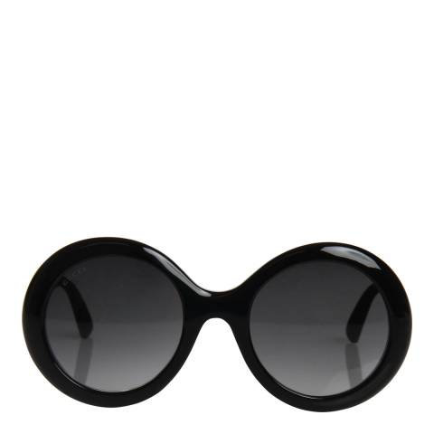 Gucci Women's Black Glitter/Grey Sunglasses 53mm