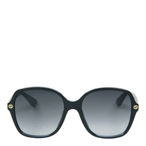 Gucci Womens Black/Grey Gucci Sunglasses 55mm
