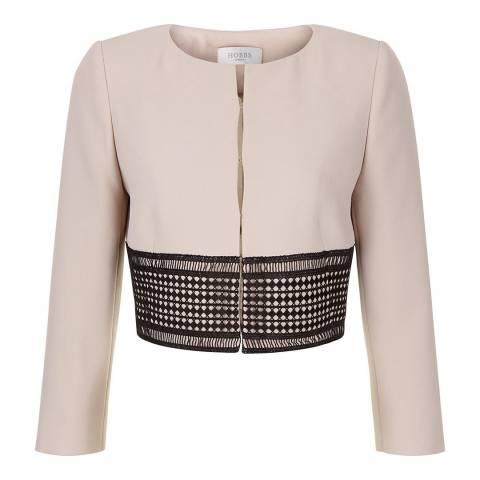 Hobbs London Latte Beige Renata Jacket