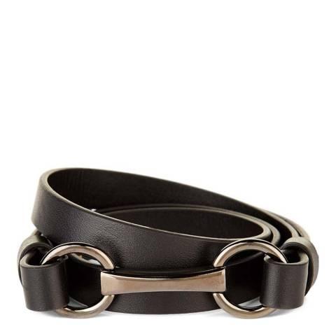 Hobbs London Black Equestrian Buckle Belt