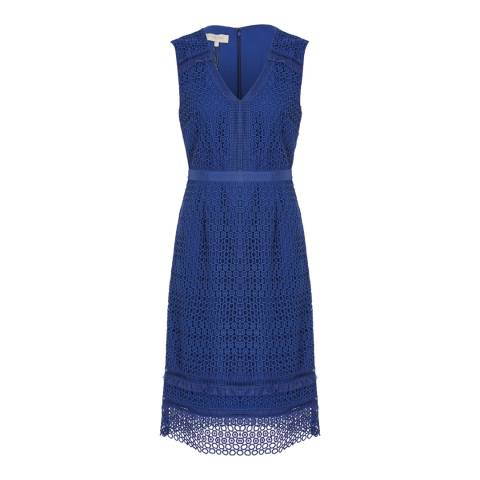 Hobbs London Blue Billie Dress