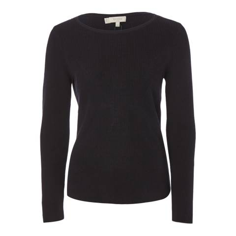 Hobbs London Navy Suttah Jumper
