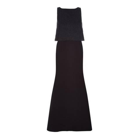 Hobbs London Black Constance Maxi Dress