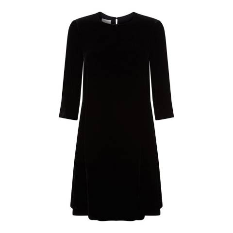 Hobbs London Black Velvet Agnes Dress