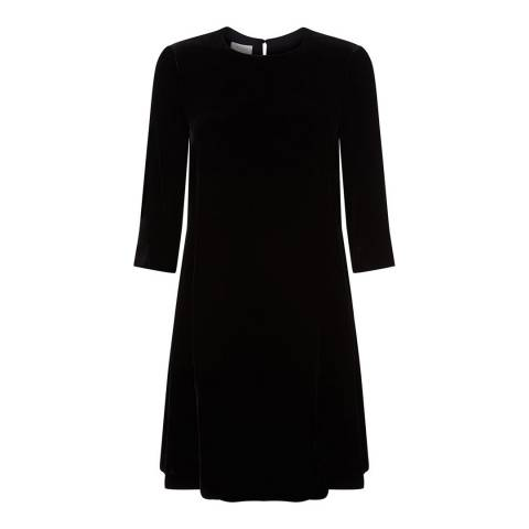 Hobbs London Black Agnes Velvet Dress