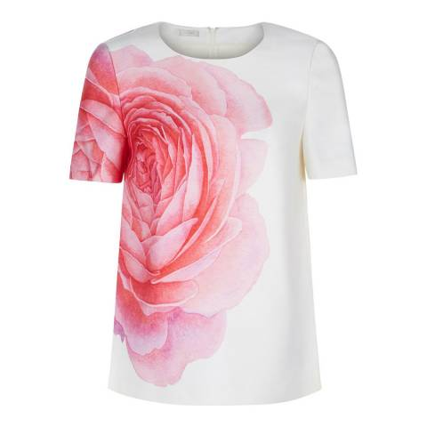 Hobbs London Ivory/Pink Christiana Top