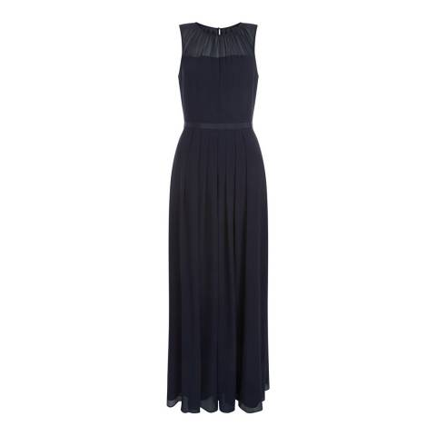 Hobbs London Navy Stephanie Maxi Dress