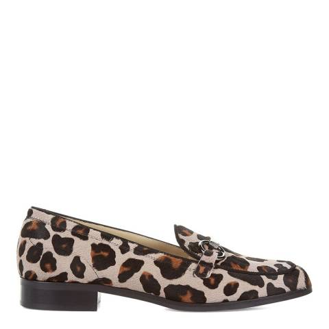 Hobbs London Mink Leopard Clarence Loafers