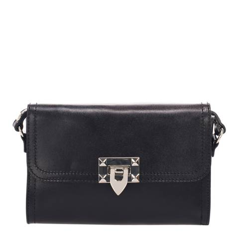 Lisa Minardi Black Leather Cross Body Bag