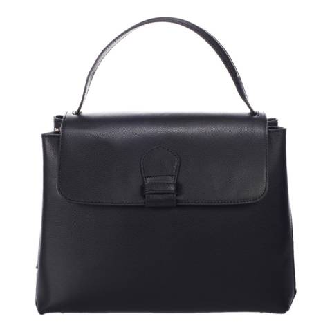 Massimo Castelli Black Leather Handbag
