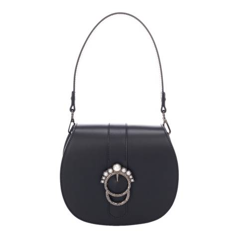 Giorgio Costa Black Leather Top Handle Bag