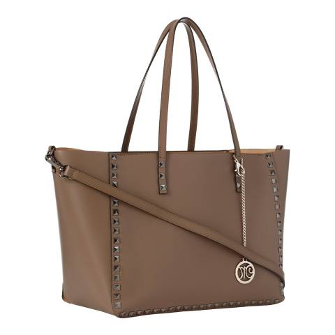 Markese Taupe Leather Shoulder Bag