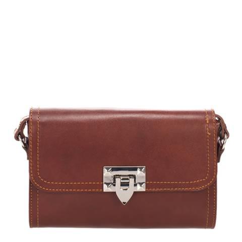 Lisa Minardi Brown Leather Cross Body Bag