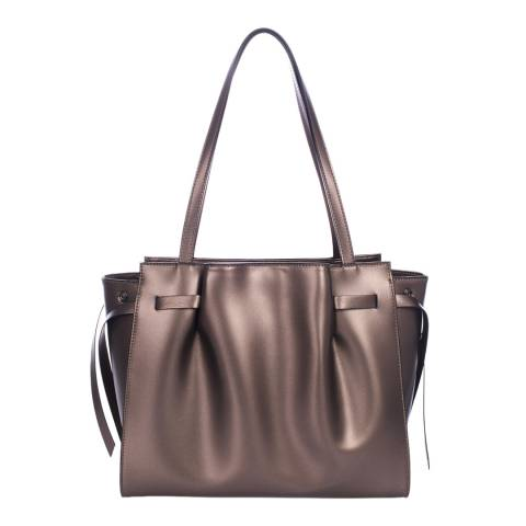Lisa Minardi Champagne Leather Handbag