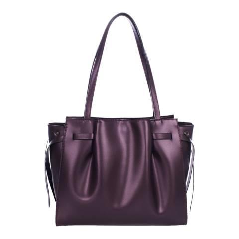 Lisa Minardi Wine Leather Handbag