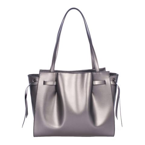 Lisa Minardi Silver Leather Handbag
