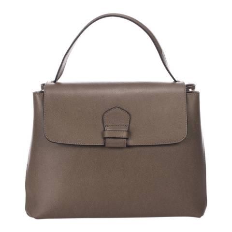 Massimo Castelli Taupe Leather Handbag