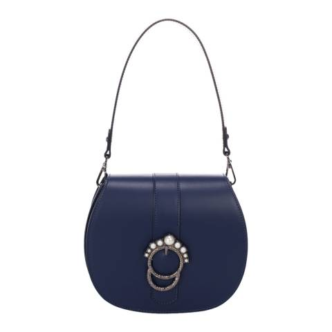 Giorgio Costa Dark Blue Leather Top Handle Bag