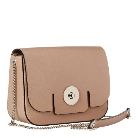 Giorgio Costa Taupe Leather Shoulder Bag
