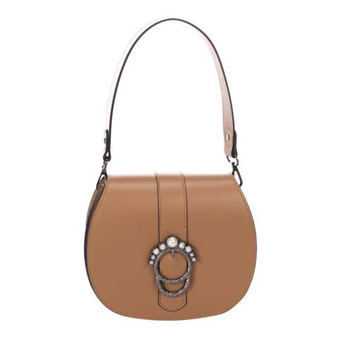 Giorgio Costa Cognac Leather Top Handle Bag