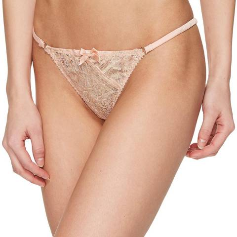 L'Agent by Agent Provocateur Blush Siena Tanga Briefs