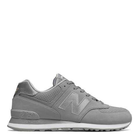 New Balance Mens Steel Silver 574 Trophy Trainers