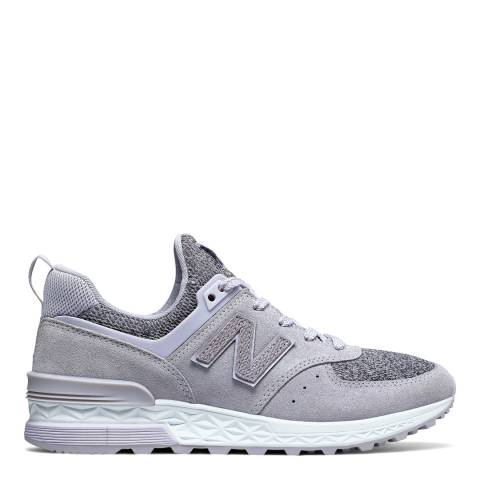 New Balance Women's Purple Suede 574 Trainers