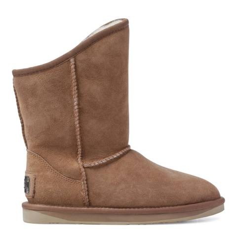 Australia Luxe Collective Chestnut Sheepskin Cosy Short Mid Low Boots