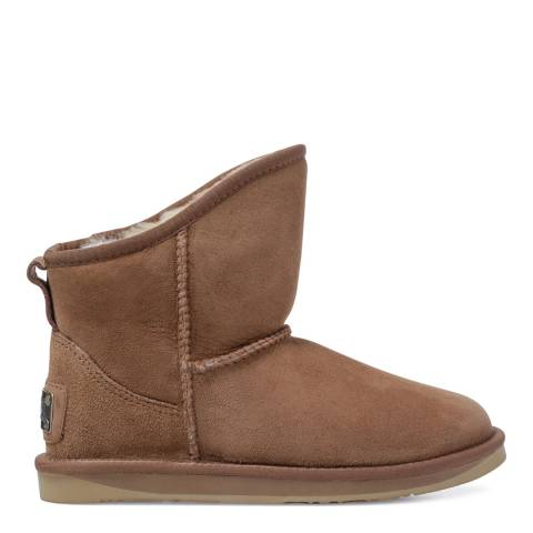 Australia Luxe Collective Chestnut Sheepskin Cosy X Short Low Boots