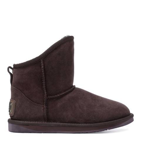 Australia Luxe Collective Espresso Sheepskin Cosy X Short Low Boots