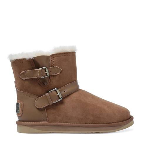 Australia Luxe Collective Chestnut Sheepskin Machina X Short Double Strap Boots