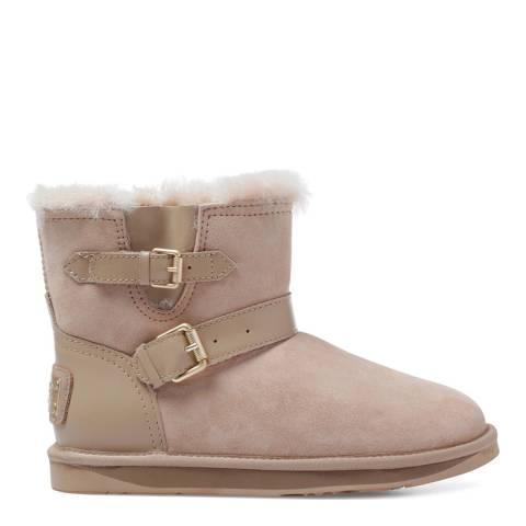 Australia Luxe Collective Cream Sheepskin Machina X Short Double Strap Boots