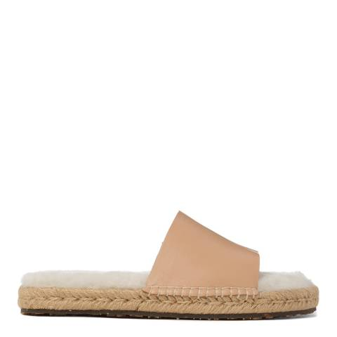 Australia Luxe Collective Cream Shearling Lined Mojavi Platform Slide Sandal