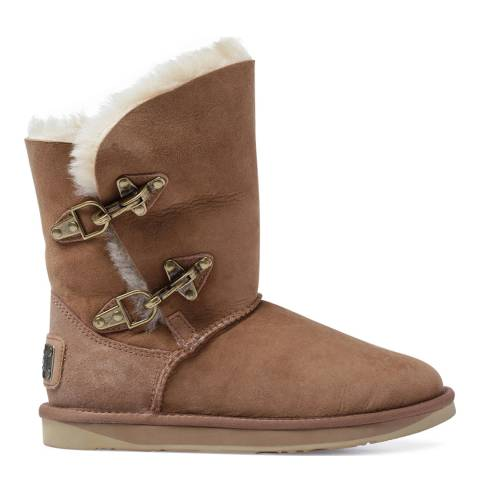 Australia Luxe Collective Chestnut Sheepskin Renegade Buckle Boots