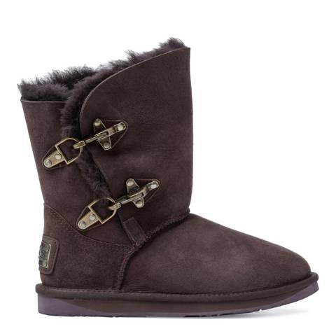 Australia Luxe Collective Espresso Sheepskin Renegade Buckle Boots