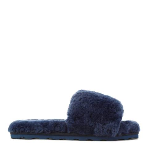 Australia Luxe Collective Navy Shearling Vamp Slide Slippers