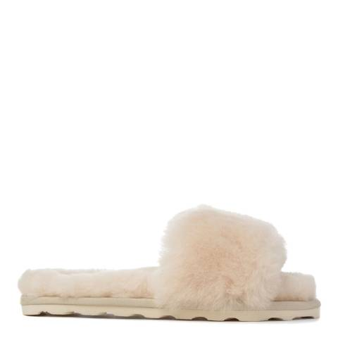 Australia Luxe Collective Sand Shearling Vamp Slide Slippers