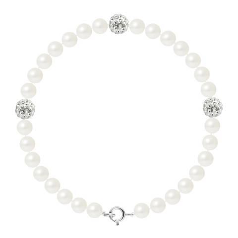 Mitzuko White Pearl/Crystal Bracelet