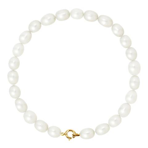Pearline Yellow Gold Pearl Bracelet