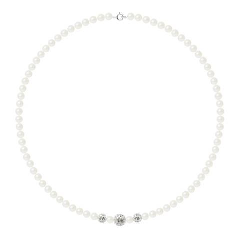 Mitzuko Black Pearl and Crystal Necklace