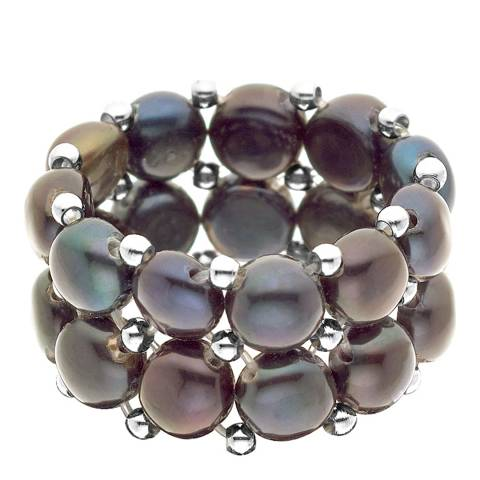 Pearline Black Pearl Ring