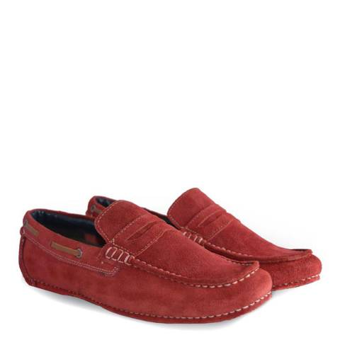 Lambretta Red Tonic Suede Driving Shoes