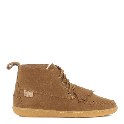 GH Bass Mid Brown Lthr & Suede SUGARLOAFER Lace Boot