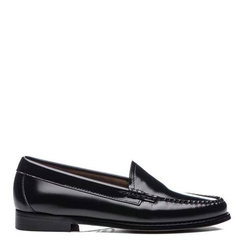 GH Bass Ladies Black Leather Weejuns Lilian Loafers