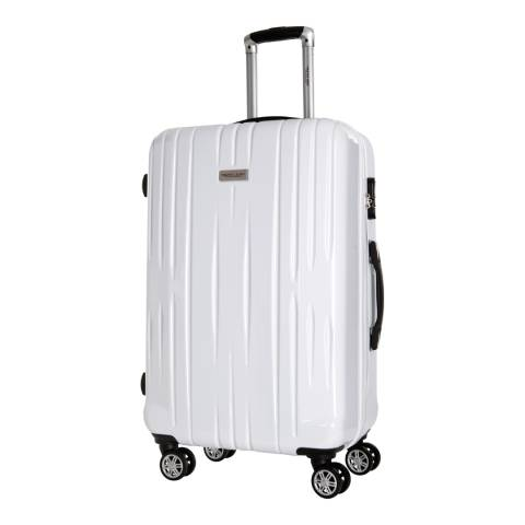 Travel One White Spinner Clifton Suitcase 65cm