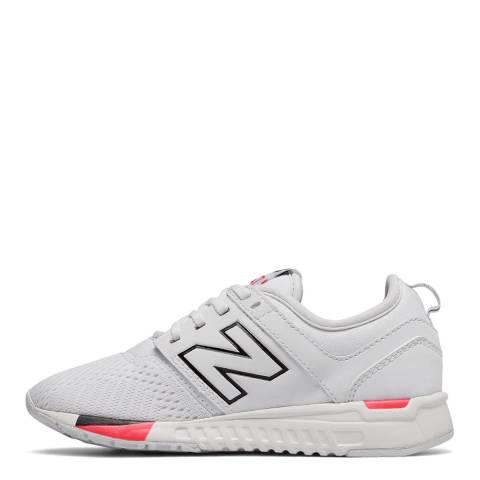 New Balance Junior White Classic Sneakers